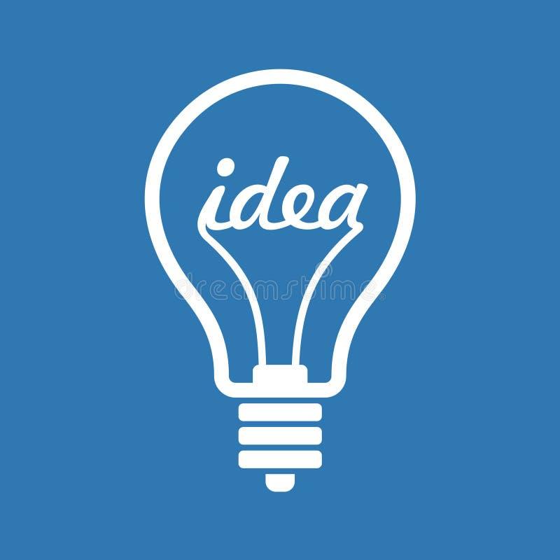 Kreatywnie pomysł w żarówka kształcie jako inspiraci pojęcie ilustracji