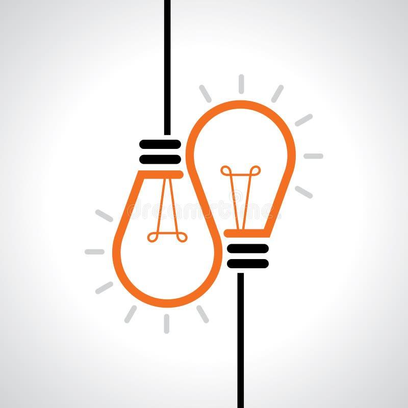 Kreatywnie pomysł w żarówka kształcie jako inspiraci pojęcie spokojnie redaguje projekt elementów wektora royalty ilustracja