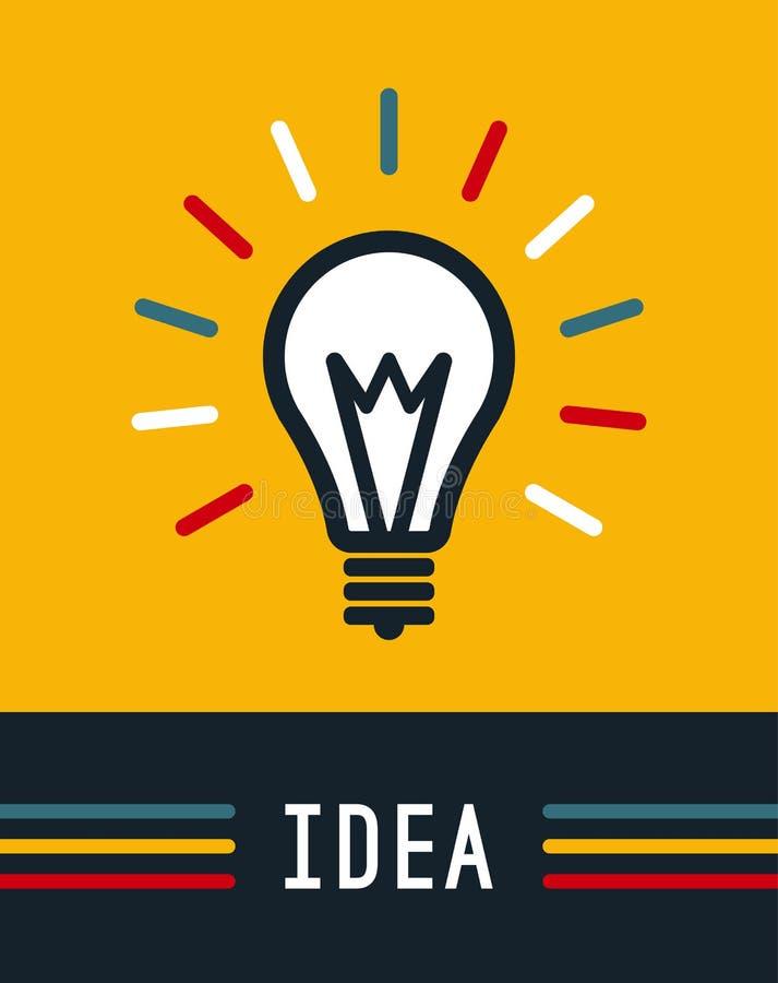 Kreatywnie pomysł w żarówka kształcie, Lampowa ikona, pomysł royalty ilustracja