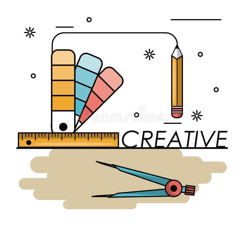 Kreatywnie pomysły i kolory ilustracji