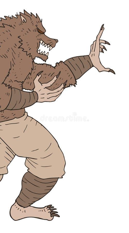 Kreatywnie potwór ilustracji