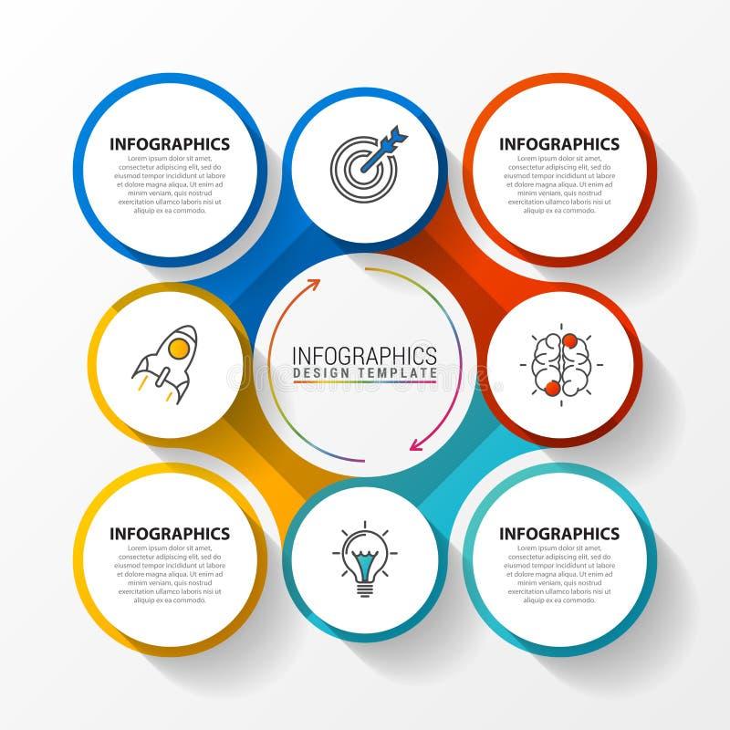 Kreatywnie proces diagram Infographic projekta szablon wektor ilustracja wektor
