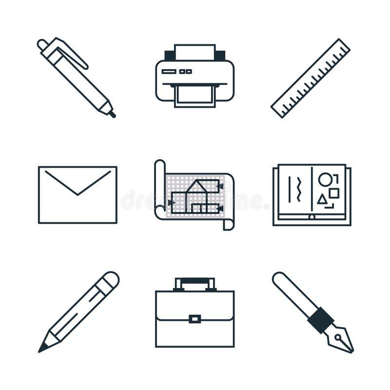 Kreatywnie Proces ikony Ustawiać ilustracja wektor