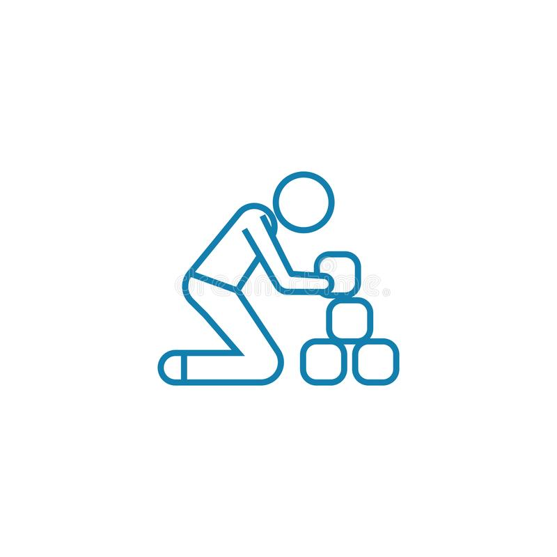 Kreatywnie proces liniowy ikony pojęcie Kreatywnie proces linii wektoru znak, symbol, ilustracja ilustracja wektor