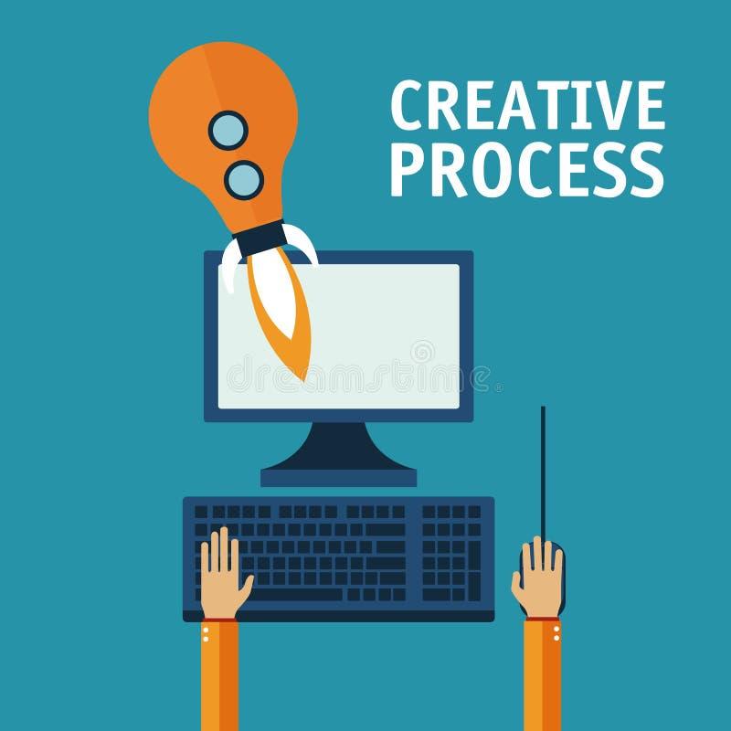 Kreatywnie proces projekt ilustracja wektor