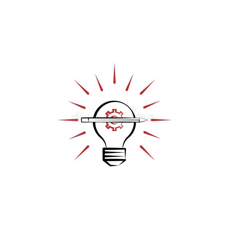 kreatywnie 2 procesu barwiąca kreskowa ikona Prosta barwiona element ilustracja kreatywnie proces konturu symbolu projekt od edec ilustracja wektor