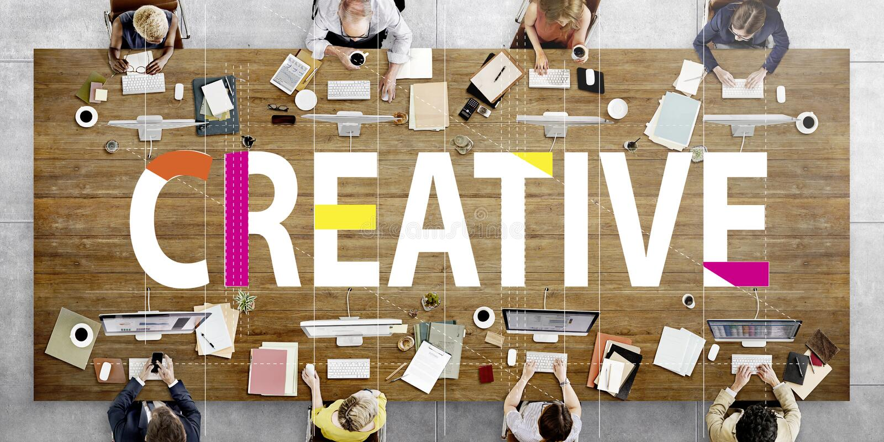 Kreatywnie projektów pomysłów wyobraźni innowaci pojęcie obrazy royalty free