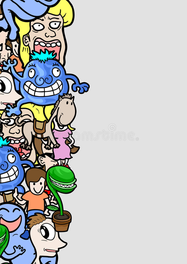 Komiczki rama royalty ilustracja