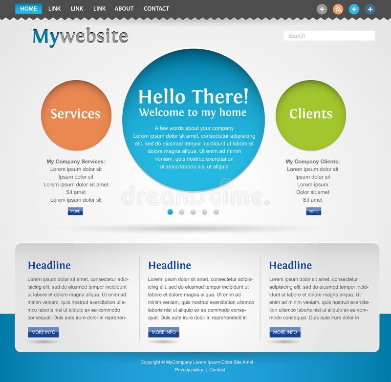 kreatywnie projekta nowożytna szablonu strona internetowa ilustracji