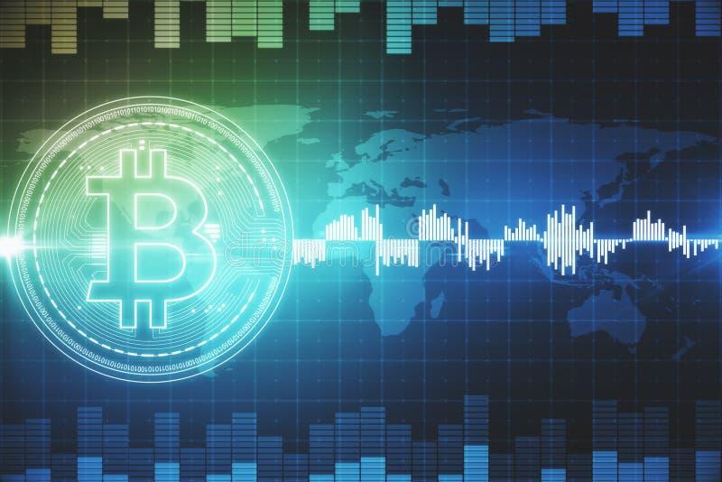 Kreatywnie rynku walutowego bitcoin tło ilustracja wektor