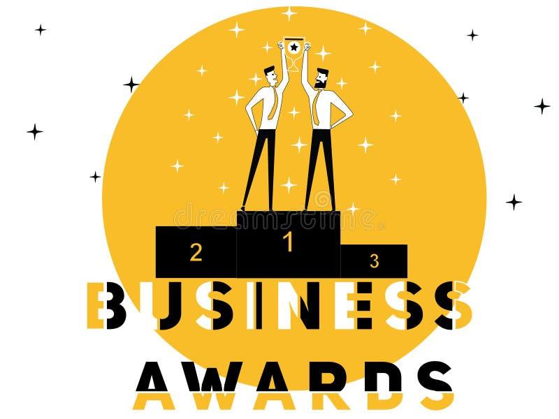 Kreatywnie słowa pojęcia Biznesowa nagroda i ludzie robi aktywność royalty ilustracja