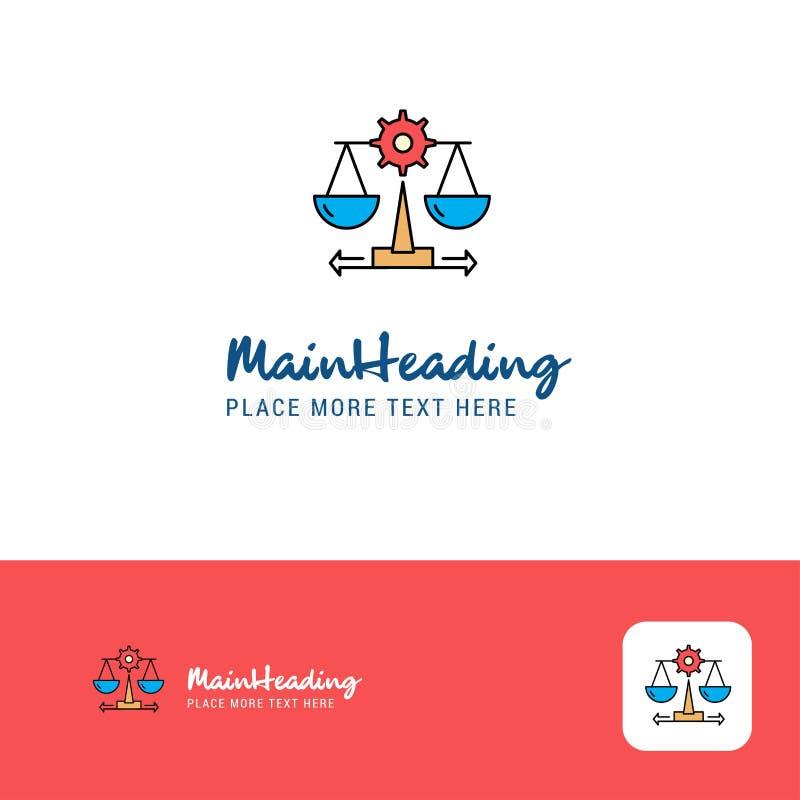 Kreatywnie sprawiedliwość logo projekt Płaski koloru logo miejsce dla Tagline również zwrócić corel ilustracji wektora royalty ilustracja