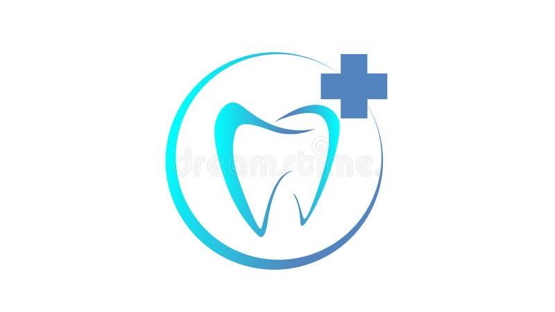 Kreatywnie Stomatologiczny pojęcie logo projekt obraz stock