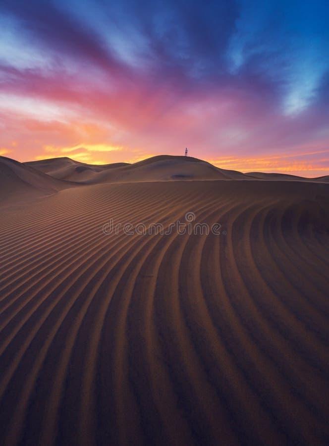 Kreatywnie strzał piasek diuny Kuwejt miasto zdjęcia royalty free