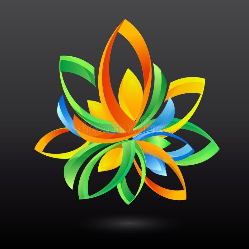 Kreatywnie symbol z liśćmi ilustracja wektor