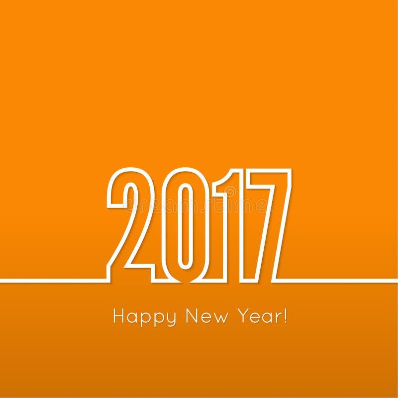 Kreatywnie Szczęśliwy nowy rok ilustracja wektor
