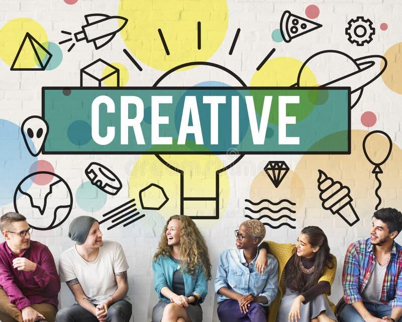 Kreatywnie twórczość Inspiruje pomysł innowaci pojęcie obraz royalty free