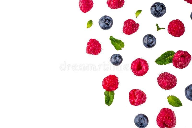 Kreatywnie układ z jagodami obraz royalty free