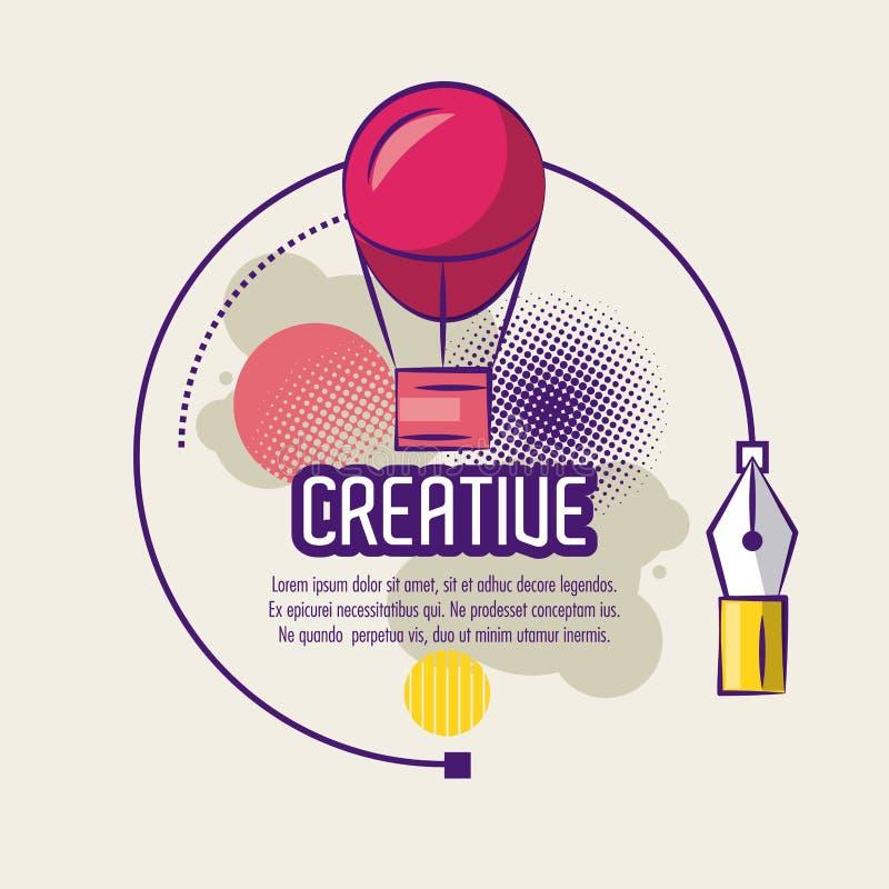 Kreatywnie umysłu plakat ilustracji