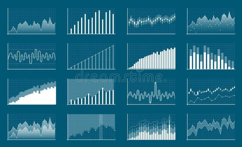 Kreatywnie wektorowa ilustracja biznesowych dane pieniężne mapy Finansowy diagram sztuki projekt R, spada rynek ilustracja wektor
