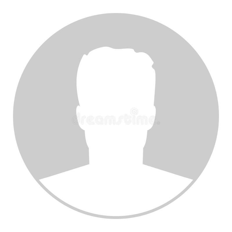 Kreatywnie wektorowa ilustracja braka avatar profilu placeholder odizolowywający na tle Sztuka projekta popielatej fotografii pus ilustracja wektor