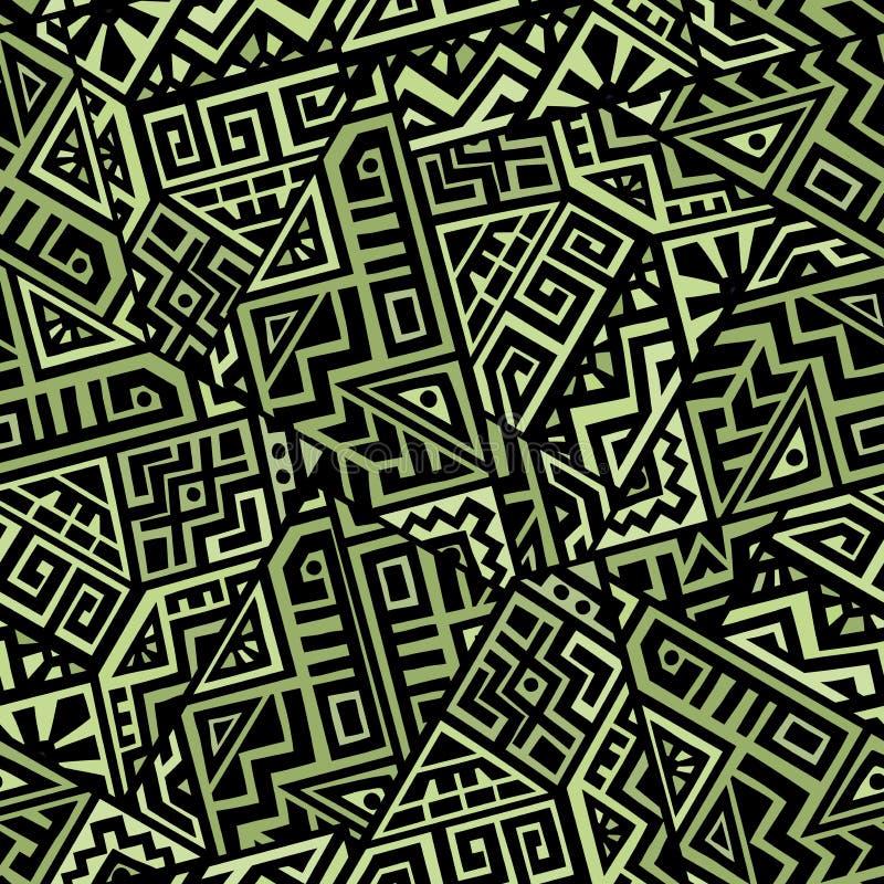 Kreatywnie Wektorowy Geometryczny Bezszwowy wzór royalty ilustracja