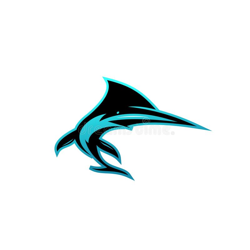 Kreatywnie wektorowy symbol rekin royalty ilustracja
