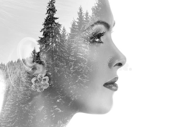 Kreatywnie wieloskładnikowy portret fotografia royalty free