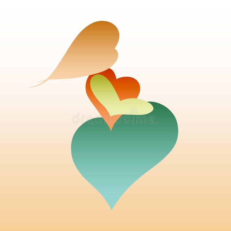 Kreatywnie wizerunek kobieta w ciąży od serca, ikona, logo ilustracja wektor