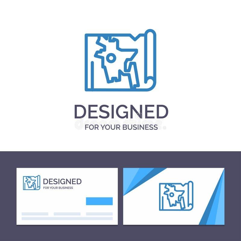 Kreatywnie wizytówki i logo szablon Bangladesz, mapa, świat, Bangla wektoru ilustracja ilustracja wektor