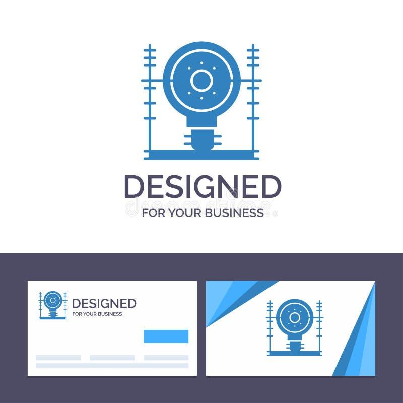Kreatywnie wizytówki i logo szablon Definiuje, energia, inżynieria, pokolenie, władza wektoru ilustracja royalty ilustracja