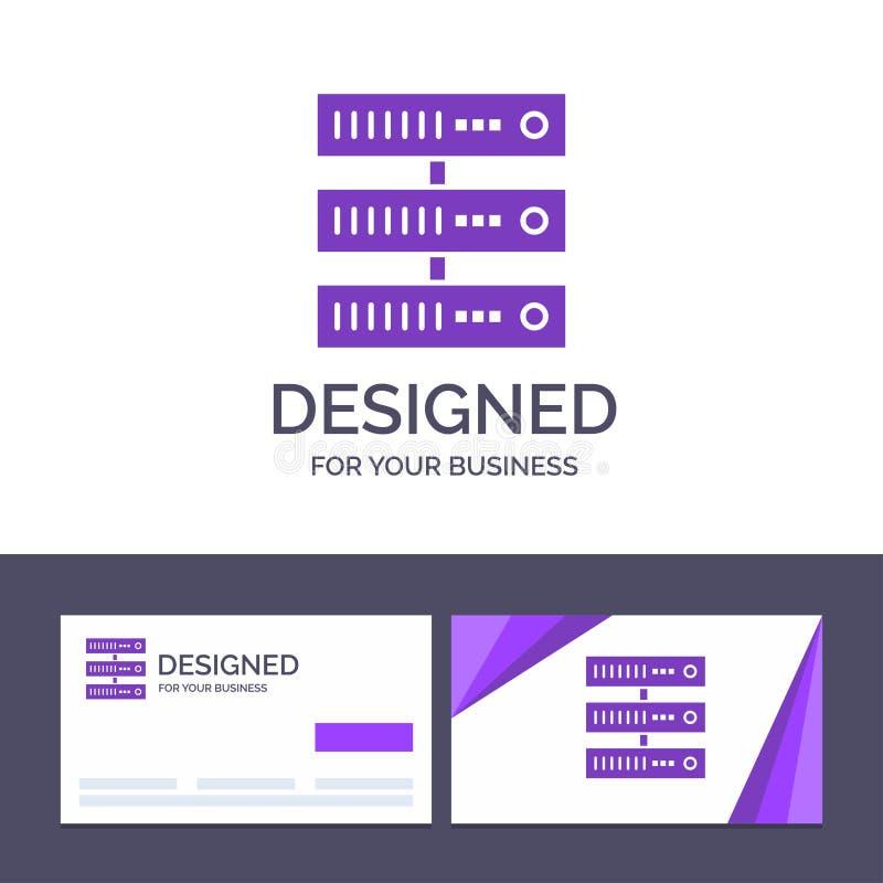 Kreatywnie wizytówki i logo szablon Oblicza, dane, magazyn, sieć wektoru ilustracja royalty ilustracja