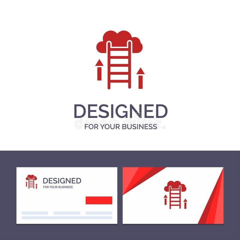 Kreatywnie wizytówki i logo szablonu chmura, ściąganie, Upload, dane, serweru wektoru ilustracja ilustracji