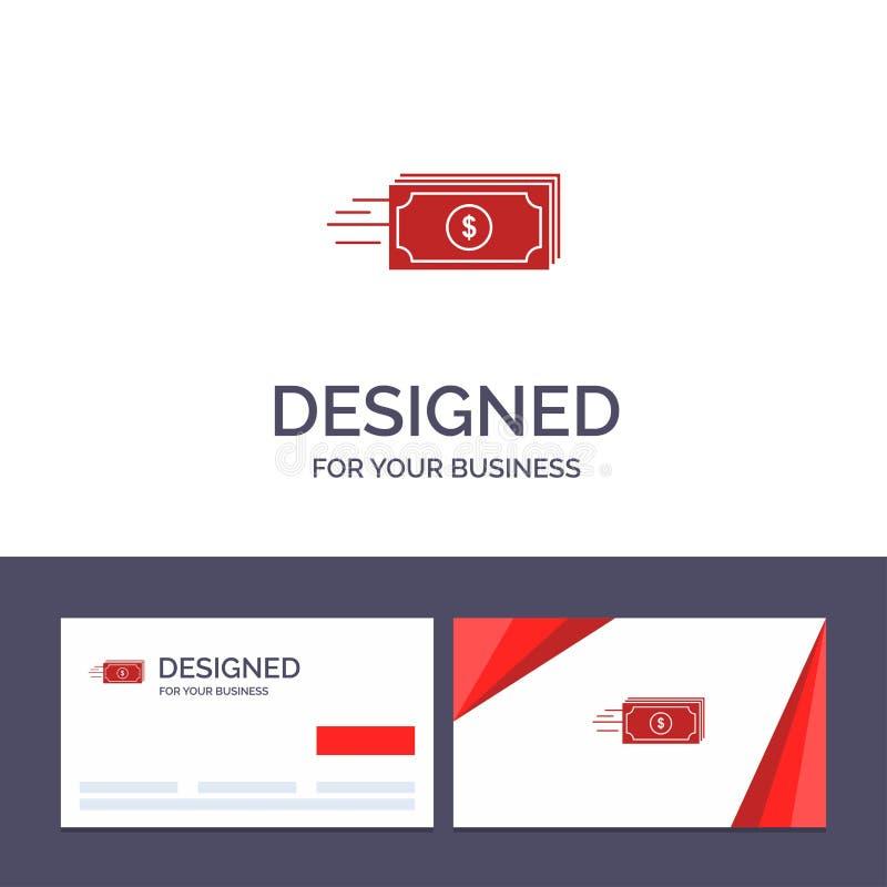Kreatywnie wizytówki i logo szablonu dolar, biznes, przepływ, pieniądze, waluta wektoru ilustracja royalty ilustracja