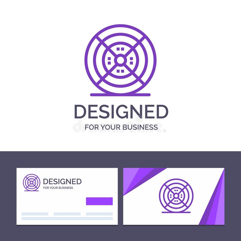 Kreatywnie wizytówki i logo szablonu film, drucik, druk, druku wektoru ilustracja royalty ilustracja