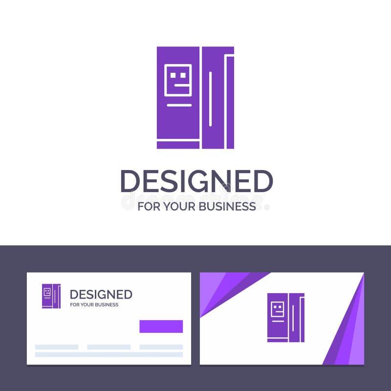 Kreatywnie wizytówki i logo szablonu Fridge, chłodziarka, deaktywacja, chłodnia wektoru ilustracja ilustracji