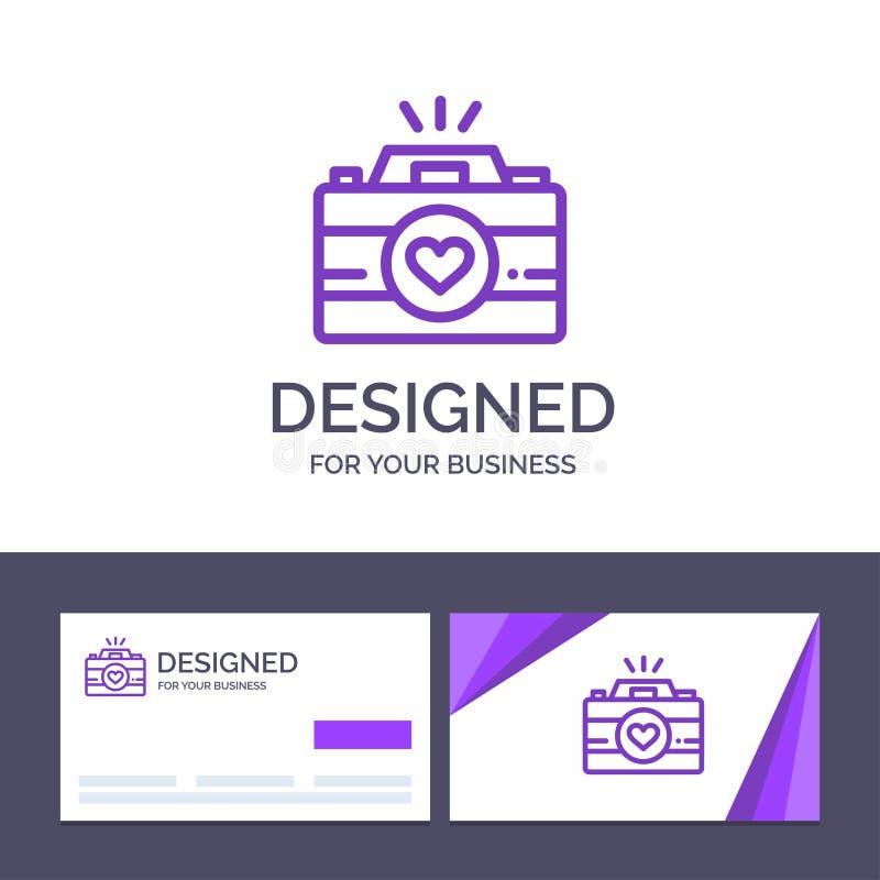Kreatywnie wizytówki i logo szablonu kamera, krzywka, gra wideo, wizerunki, pary fotografii wektoru ilustracja ilustracji