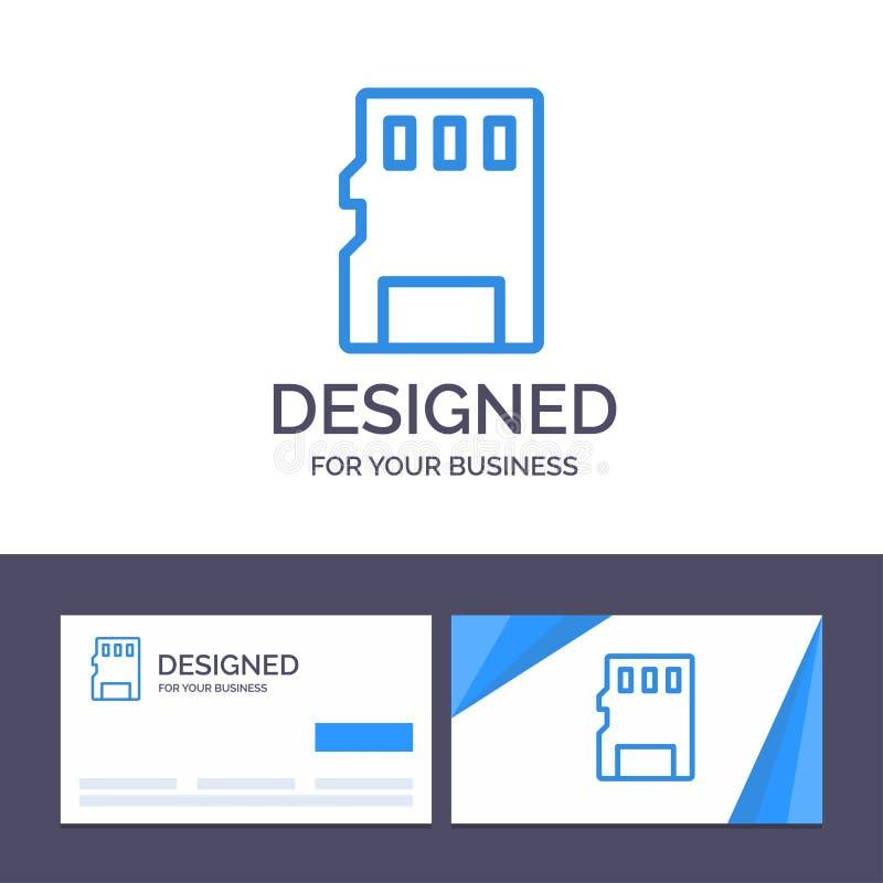 Kreatywnie wizytówki i logo szablonu karta, pamięć, karta pamięci, SD wektoru ilustracja ilustracji