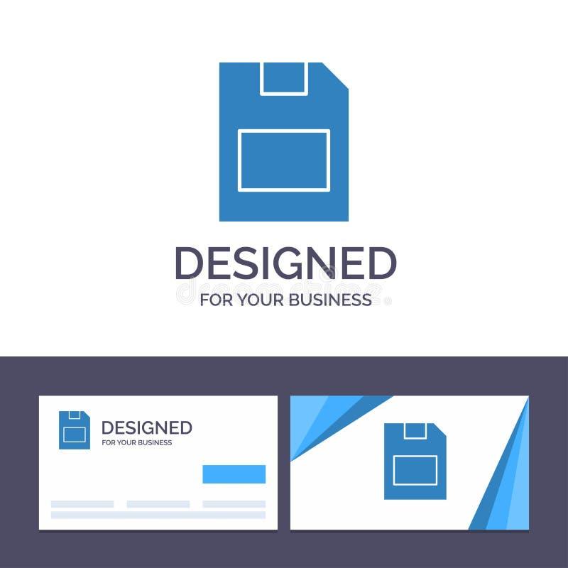 Kreatywnie wizytówki i logo szablonu karta, karta pamięci, magazyn, dane wektoru ilustracja ilustracja wektor