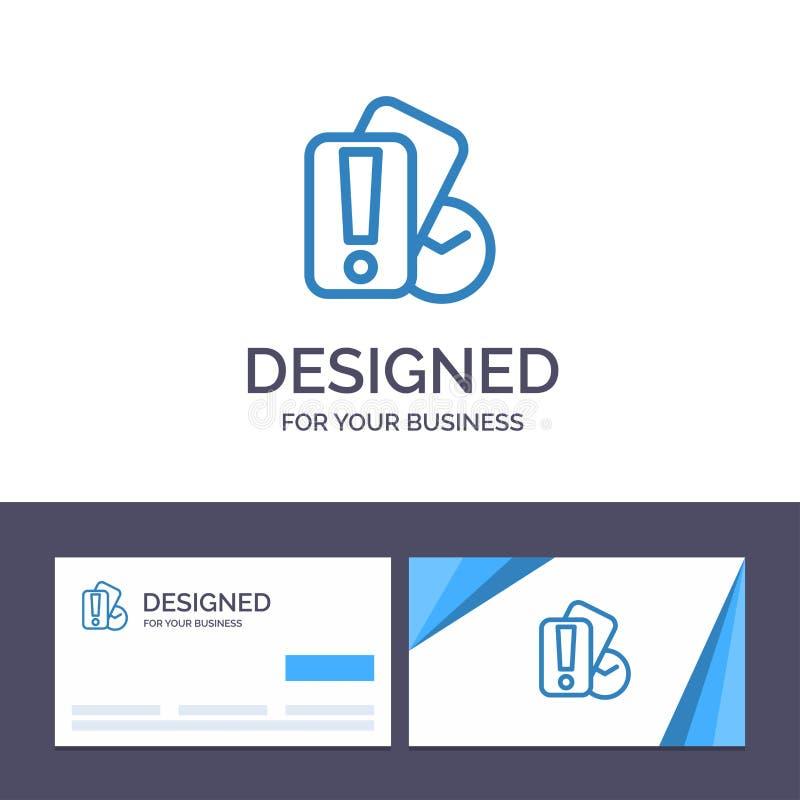 Kreatywnie wizytówki i logo szablonu karta, ręka, mienie, arbitra wektoru ilustracja royalty ilustracja