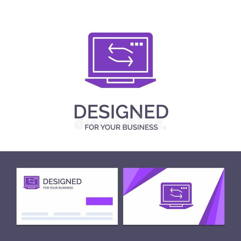 Kreatywnie wizytówki i logo szablonu komputer, sieć, laptop, narzędzia wektoru ilustracja ilustracji