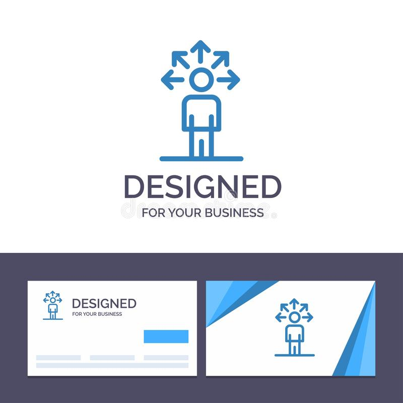 Kreatywnie wizytówki i logo szablonu komunikacja, zdolność, związek, Ludzka Wektorowa ilustracja royalty ilustracja