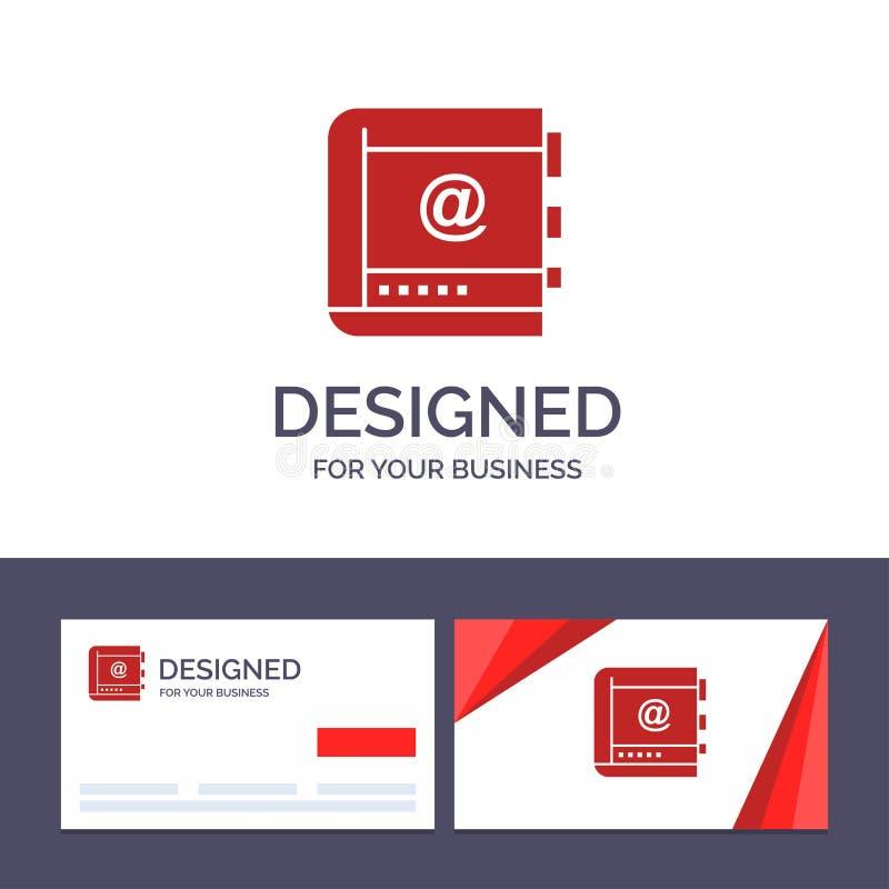 Kreatywnie wizytówki i logo szablonu książka, biznes, kontakt, kontakty, internet, telefon, Telefoniczna Wektorowa ilustracja royalty ilustracja