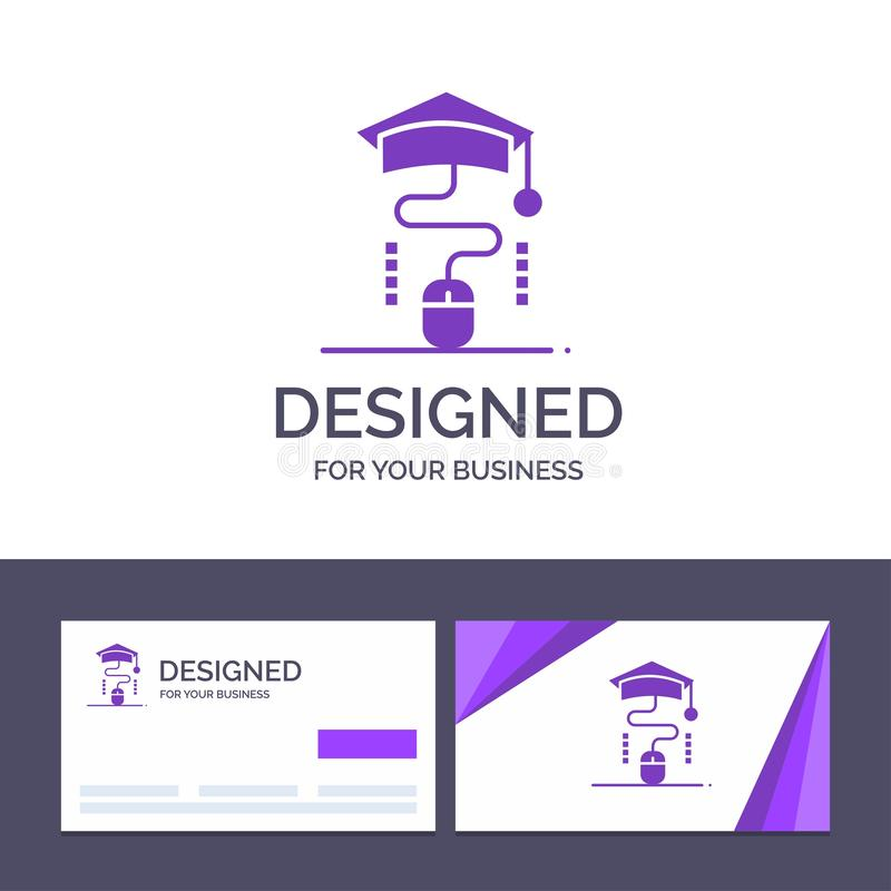 Kreatywnie wizytówki i logo szablonu mysz, skalowanie, Online, edukacja wektoru ilustracja ilustracji