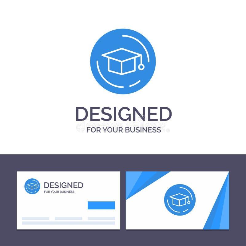 Kreatywnie wizytówki i logo szablonu nakrętka, edukacja, skalowanie wektoru ilustracja ilustracja wektor