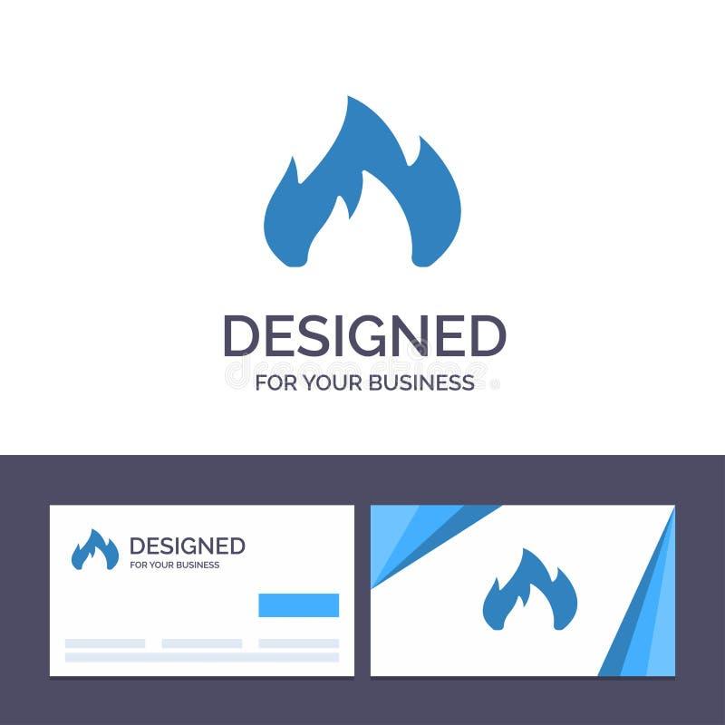 Kreatywnie wizytówki i logo szablonu ogień, ogrzewanie, graba, Iskrowa Wektorowa ilustracja ilustracji