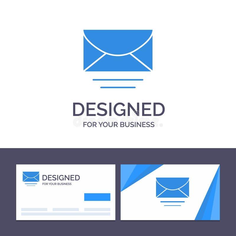 Kreatywnie wizytówki i logo szablonu poczta, email, wiadomość, Globalna Wektorowa ilustracja ilustracji