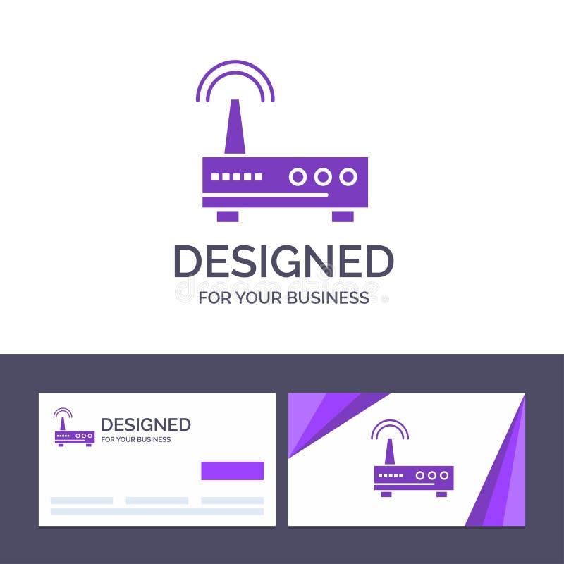 Kreatywnie wizytówki i logo szablonu przyrząd, Wifi, sygnał, edukacja wektoru ilustracja ilustracja wektor