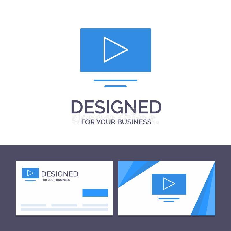 Kreatywnie wizytówki i logo szablonu wideo, sztuka, YouTube wektoru ilustracja ilustracja wektor