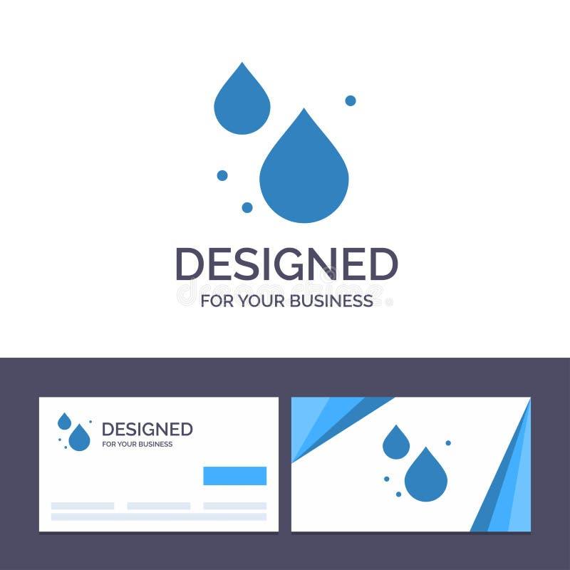 Kreatywnie wizytówki i logo szablonu woda, kropla, wiosna wektoru ilustracja ilustracji